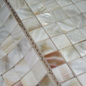 shell tiles, mother of pearl tiles, kitchen backsplash tiles, bath wall tiles, shell mosaics from FIFYH