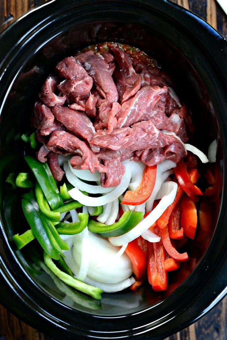 5-ingredient Slow Cooker Steak Fajitas - Simply Scratch