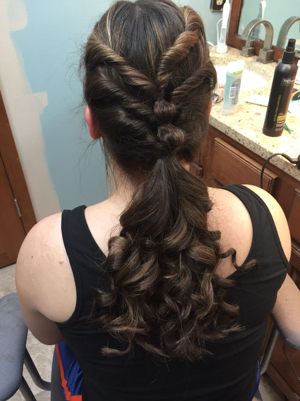 cute hairstyle for middle school dances!   hair in 2019