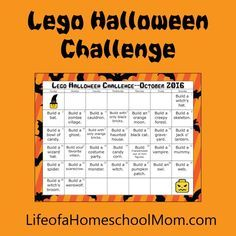 Take this LEGO Halloween Challenge if you need some building ideas in October!