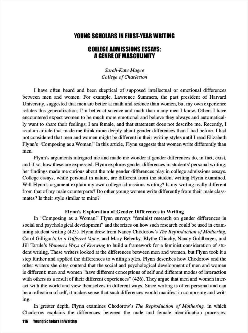 College Essay Samples About Yourself Essay Examples College Admission Essay Essay