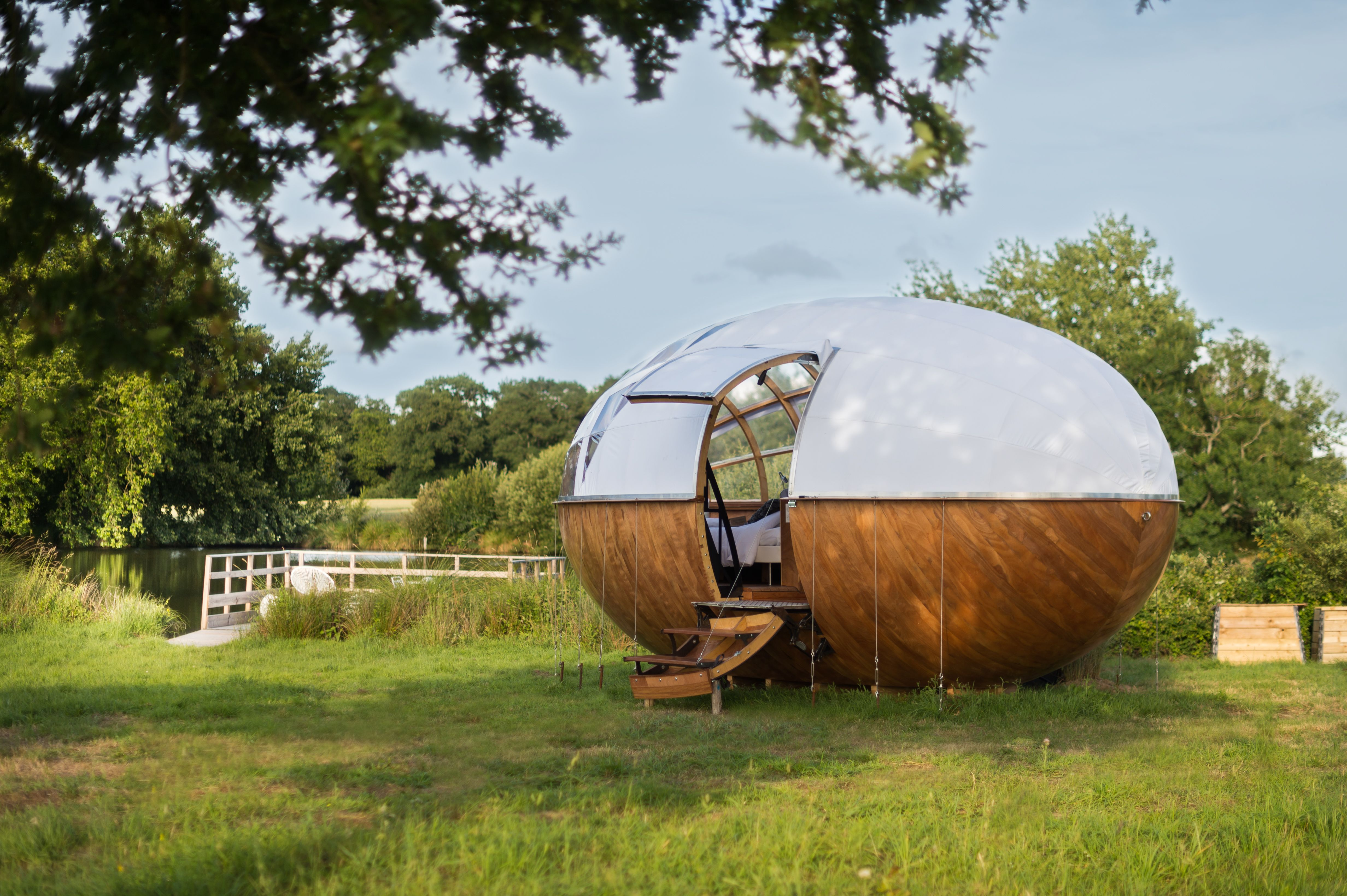 Photo 179 Of 1307 In Best Outdoor Photos From A Fantastic Egg Shaped  Camping Pod