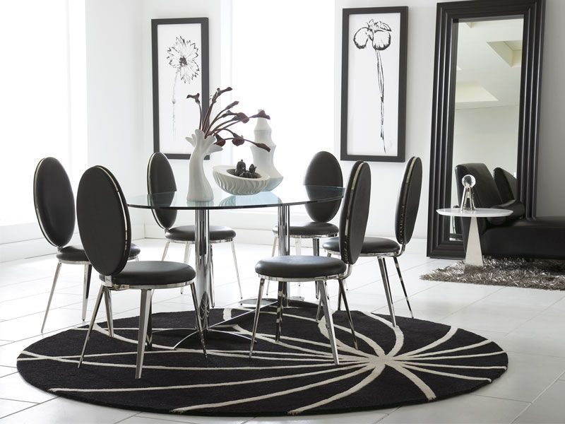 Who said your dining room can't be a contemporary black and white affair? This is the Havana Dining collection from CORT!