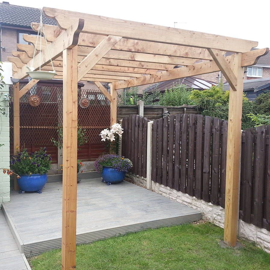 handmade garden pergola by the confidence building company