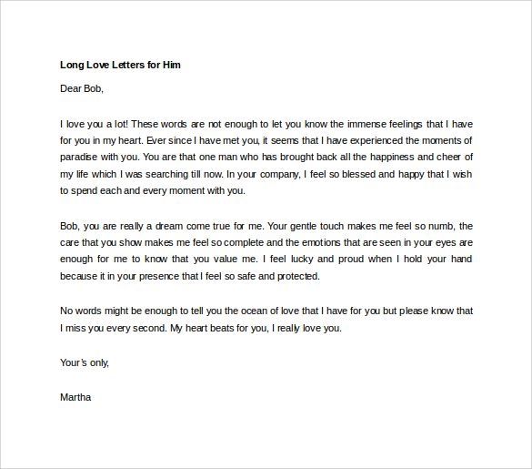Love letter to boyfriend on anniversary