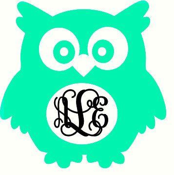 Download Owl Monogram Decal *FREE SHIPPING* | Monogram decal, Vinyl ...