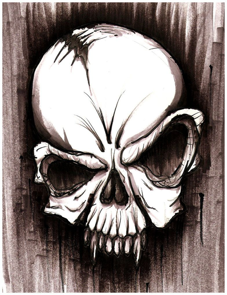 Awesome pencil drawings of skulls skull sketch by hardart kustoms on deviantart