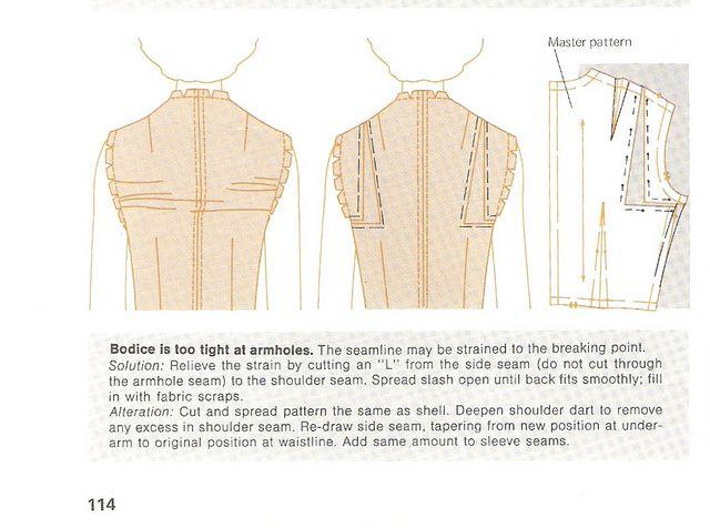 Broad Back Adjustment Sewing Pinterest Sew Pattern Patterns