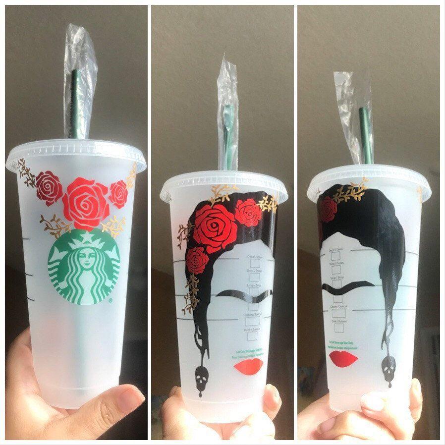 Frida Kahlo sur le thème de Starbucks tasse par