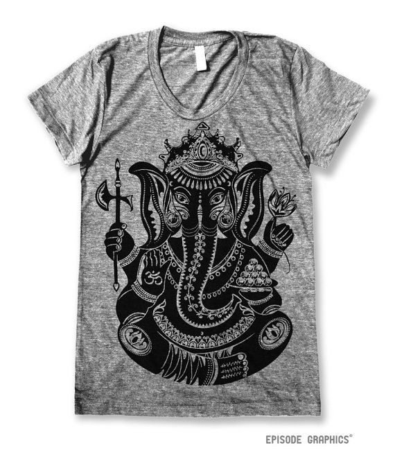 This Ganesha Symbol Graphic Is Printed On A Soft 50 Cotton 50