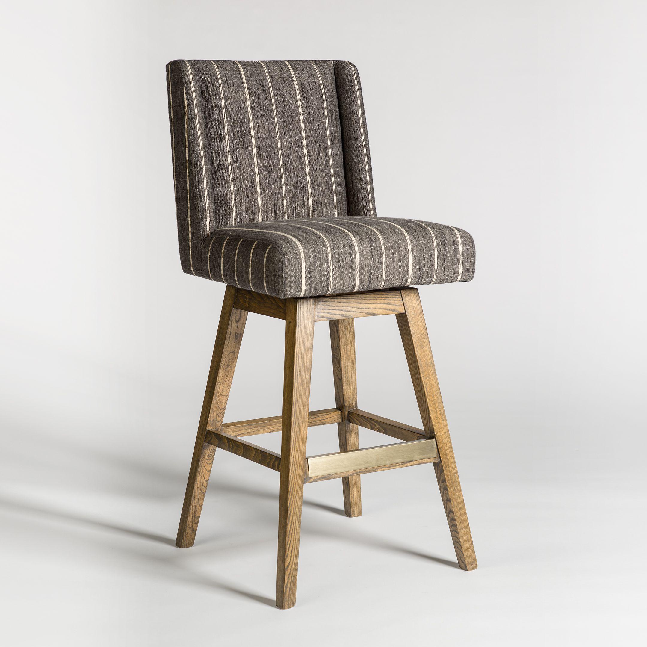 Tribeca swivel bar stool alder tweed furniture home bar counter weathered oak