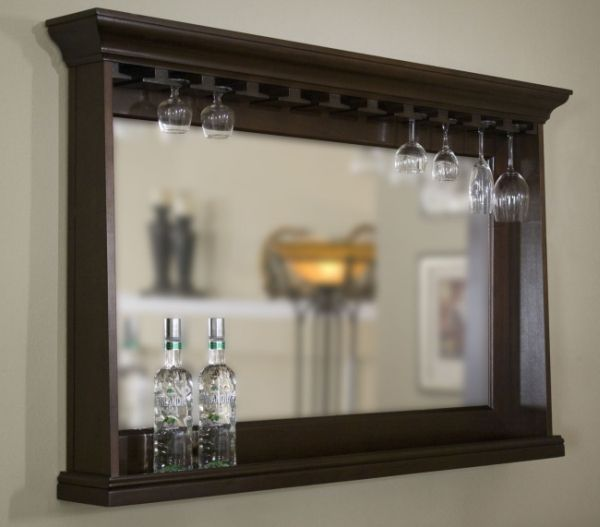 Bar Mirror Shelves Google Search
