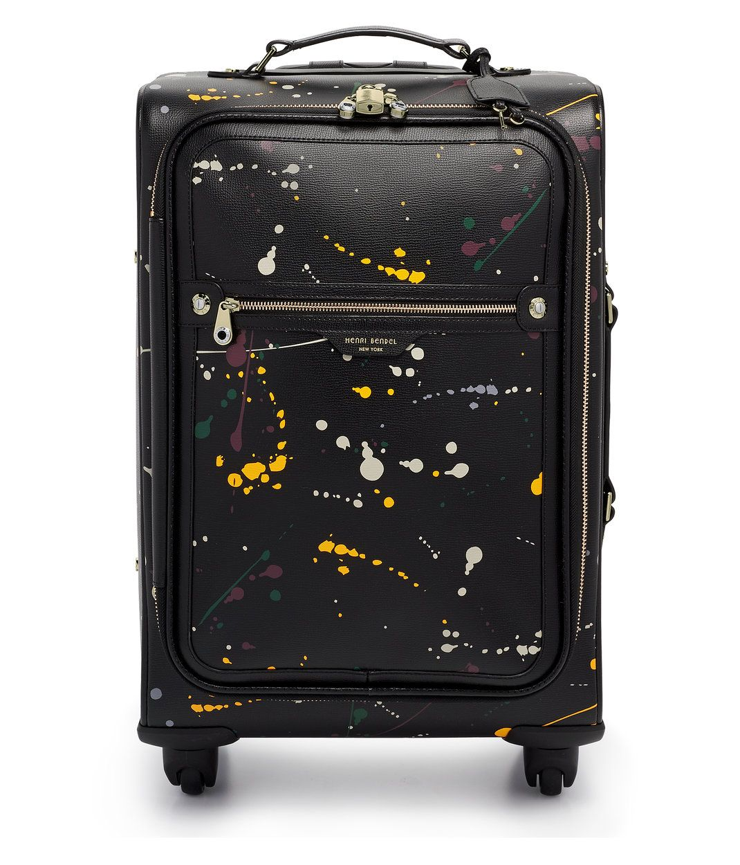 bb6a4d736688 The West 57th Paint Splatter Wheelie Suitcase is every traveling ...