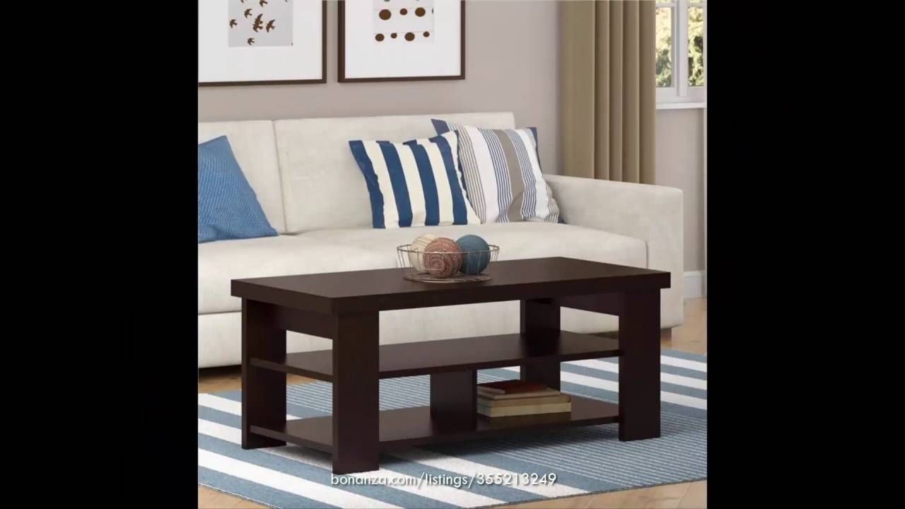 Coffee Table Home End Set Living Room Furniture Dark Brown 3 Shelf Coffee Table With Shelf Contemporary Coffee Table Altra Furniture [ 720 x 1280 Pixel ]