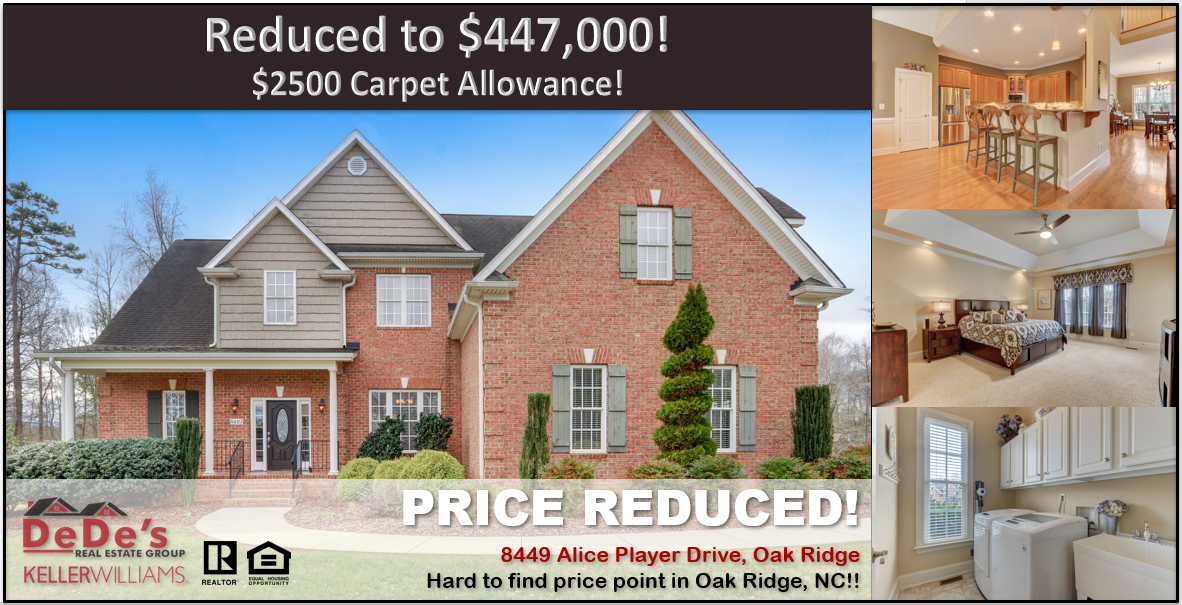 8449 Alice Player Drive Oak Ridge Nc In 2020 Guest Bedrooms House Styles