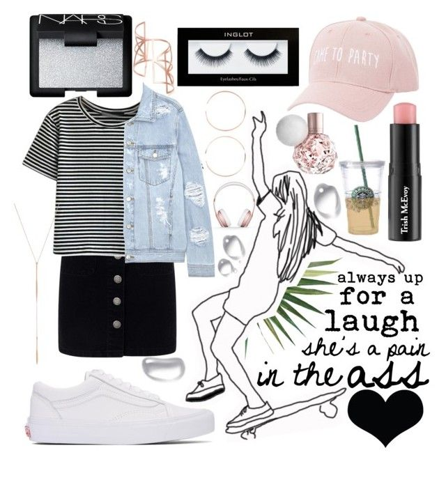"""always up for a laugh, she's a pain in the ass"" by nat-s-x ❤ liked on Polyvore featuring Pottery Barn, Miss Selfridge, WithChic, Charlotte Russe, Vans, Inglot, Trish McEvoy, NARS Cosmetics, Edge of Ember and SJYP"