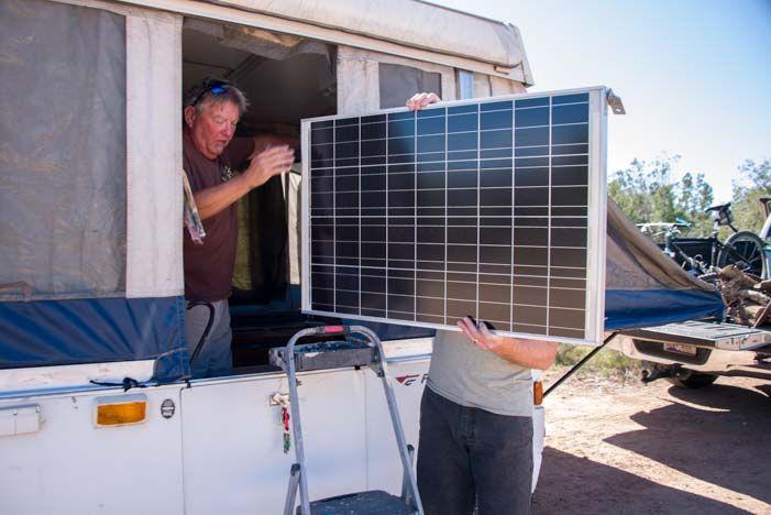 Popup tent trailer RV solar panel & Popup tent trailer RV solar panel | Tiny House / Trailers ...