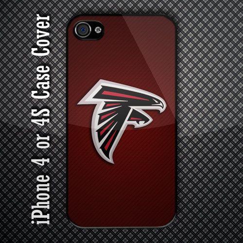 Atlanta Falcons NFL Team Logo Custom iPhone 4 or 4S Case Cover. $15.99, via