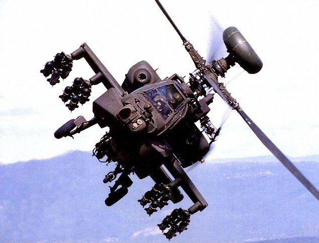 Another cool apache helicopter.