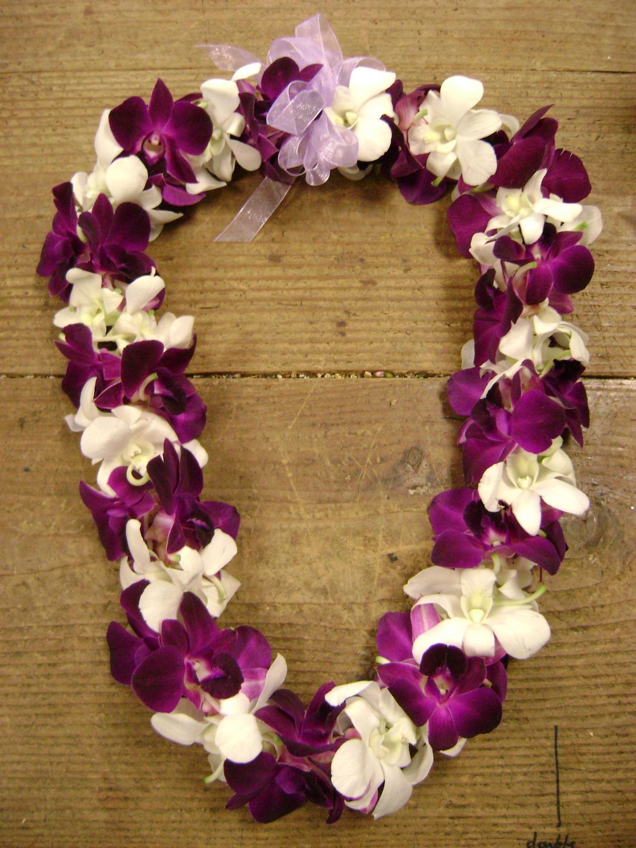 Lei Customs Nau Wale No Tours Tropical Floral Arrangements Orchid Lei Funeral Flower Arrangements