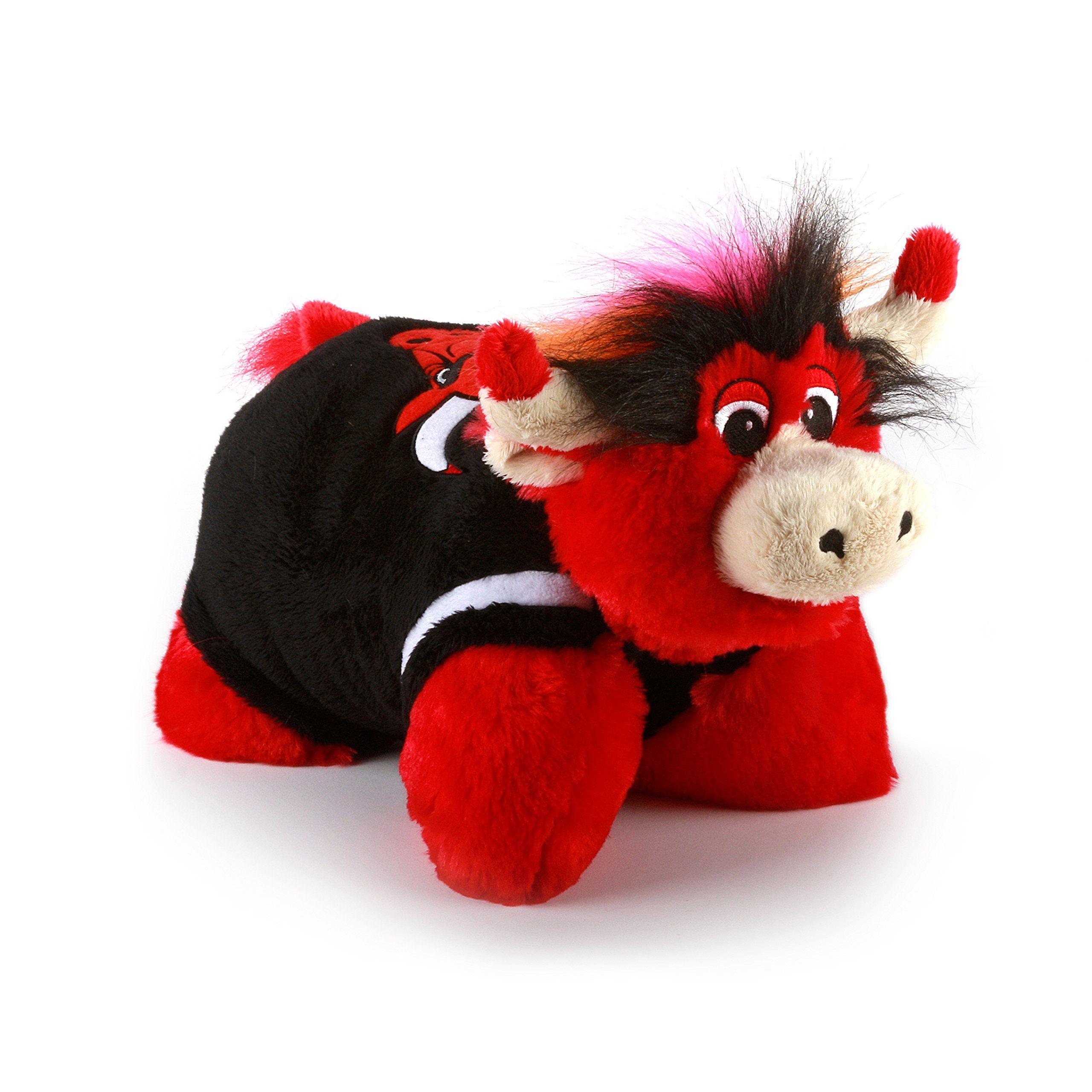 Amazon Com Nba Chicago Bulls Mini Pillow Pet Medium Red Sports Fan Pillow Sports Outdoors Animal Pillows Plush Pillows Pets