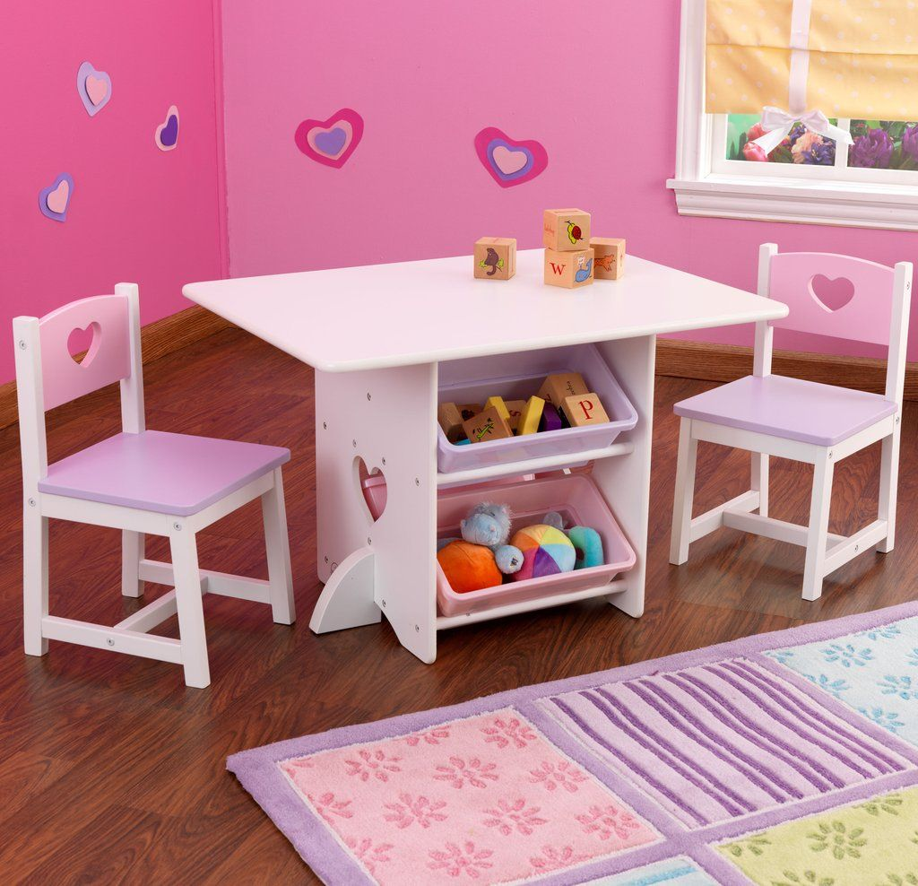Heart Table Kids Table And Chairs Kids Furniture Kids Play Table