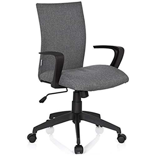 HJH Office 723040 chaise de bureau, siège pivotant SOFT gris au