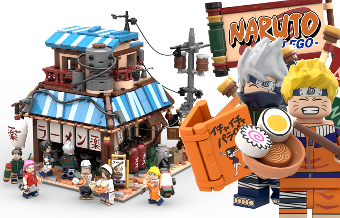 Naruto Ichiraku Ramen Shop in 2020 Lego ninjago city