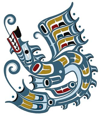 nw indian art | Water Dragon Northwest Coast Native American ...