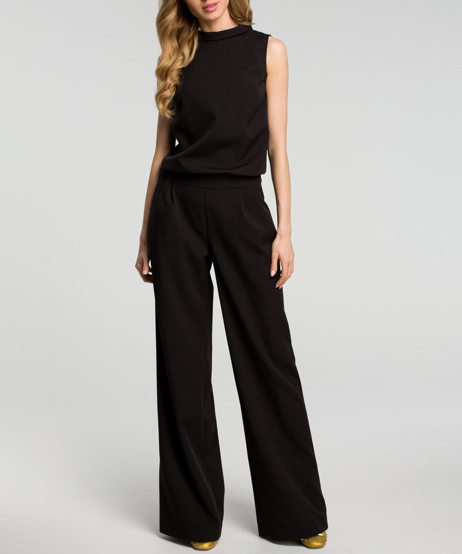 5e9a1ec05 Black sleeveless wide leg jumpsuit - Made of Emotion | STYLE ...