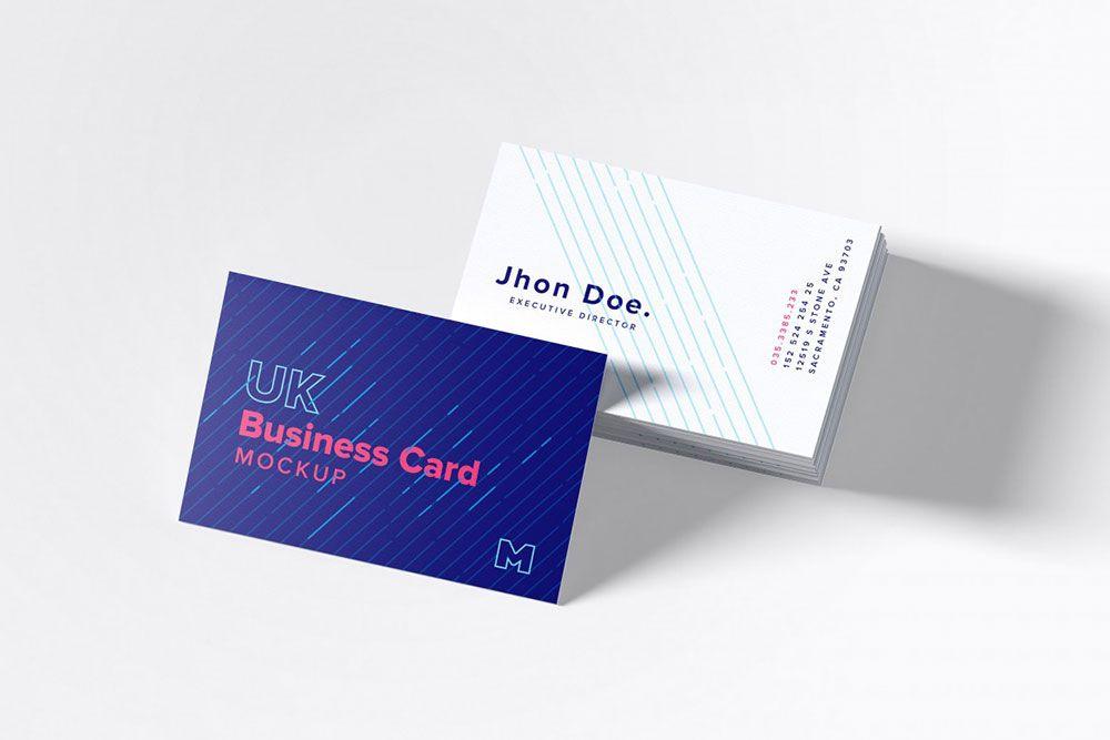 Free Uk Business Cards Mockup Mockuptree Business Card Mock Up Business Cards Mockup Psd Business Card Psd