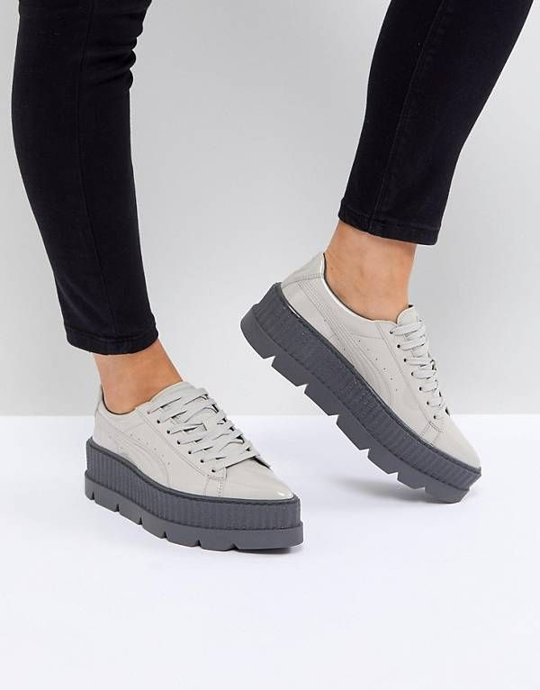 Shop Puma X Fenty Patent Creepers In Gray at ASOS. be583168a