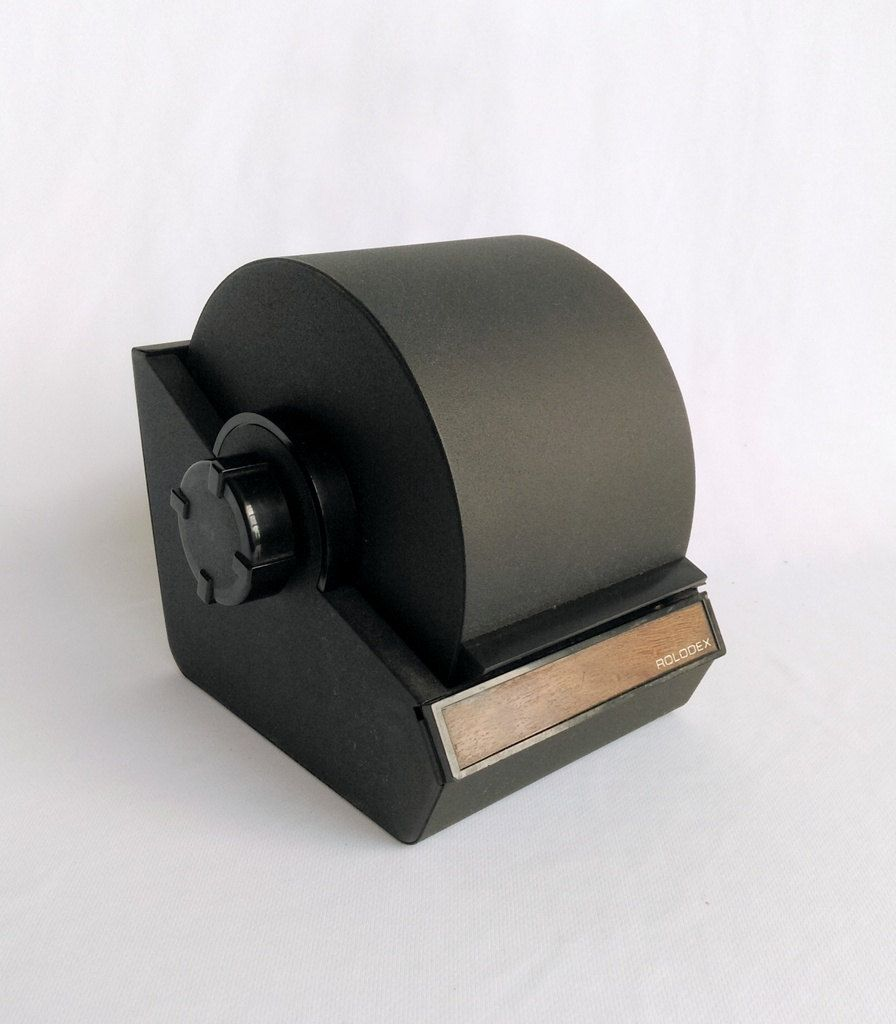 Vintage Rolodex Rotary Card File, Business Card Sorter, Roll Top ...