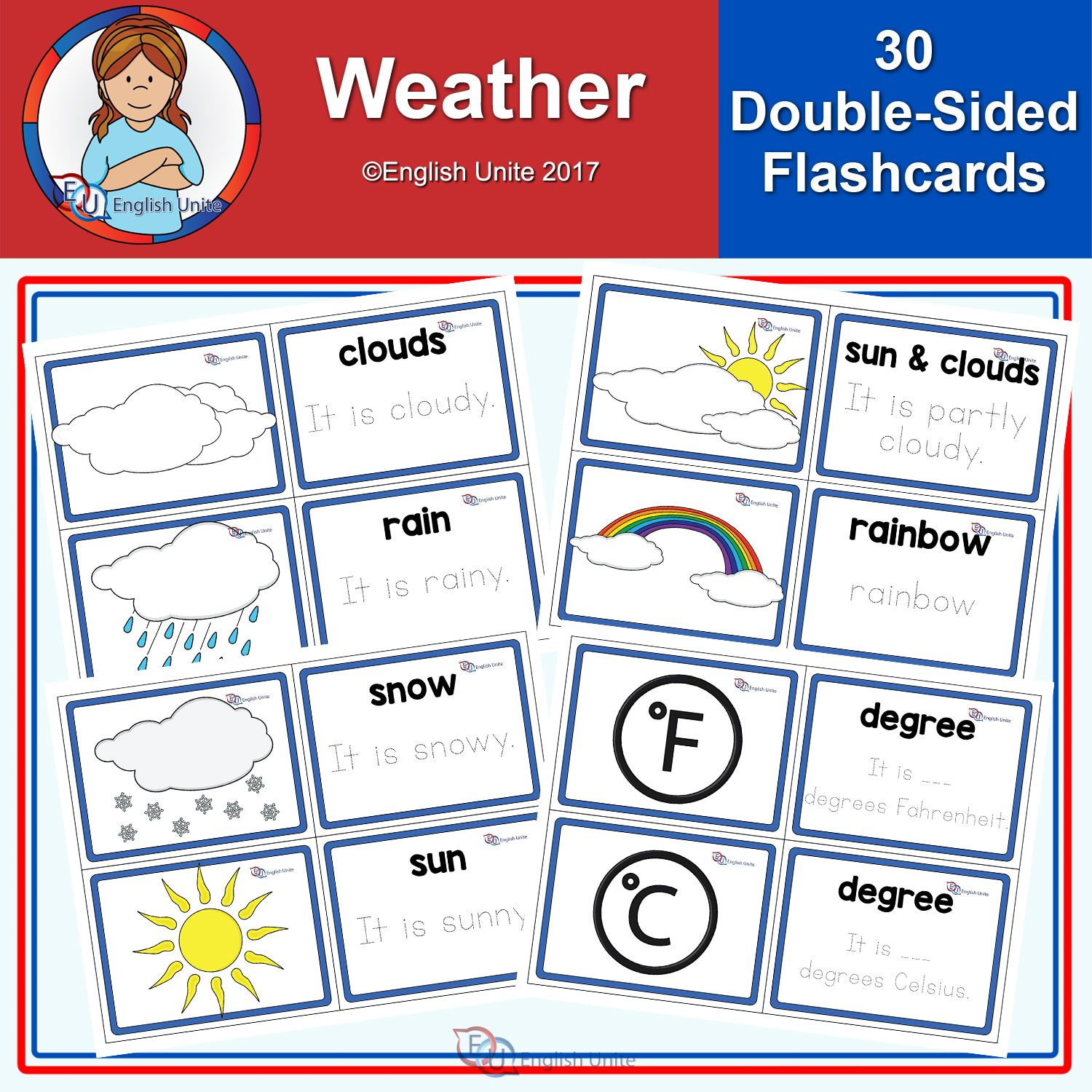 Weather Flashcards Esl