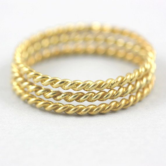 Twist Ring Rope Gold