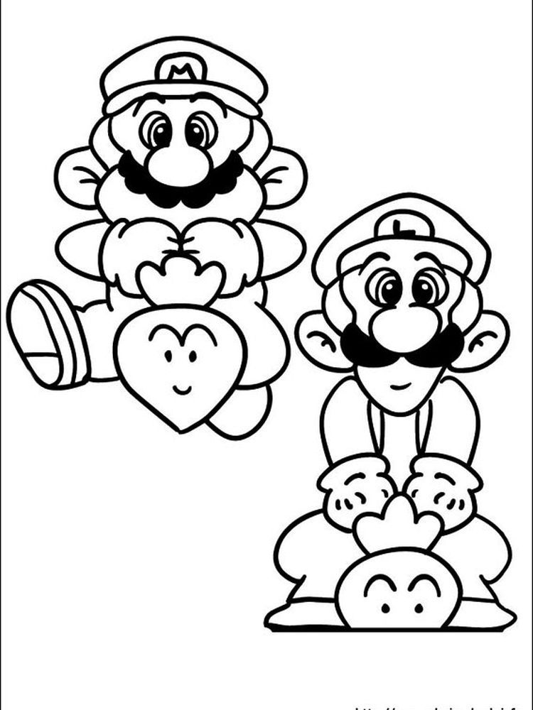mario and luigi coloring pages to print. The following is