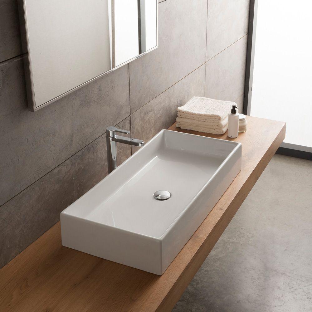 Scarabeo Teorema Aufsatzwaschtisch Weiss 803180 Aufsatzwaschbecken Badezimmer Waschbecken Bad