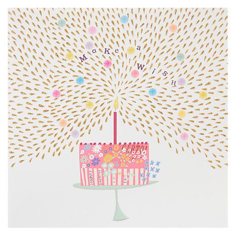 Buy Woodmansterne Make A Wish Cake Birthday Card Online At Johnlewis