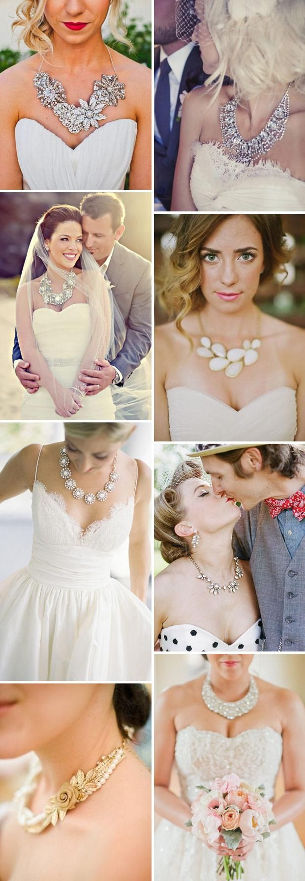 Be bold: Wear a statement necklace on your wedding day!