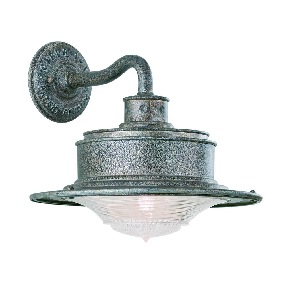 South Street Old Galvanized Outdoor Wall Mount Lantern