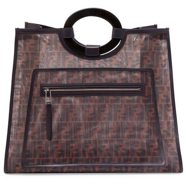 3171cdcffa Fendi Large Mesh Logo Shopper ❤ liked on Polyvore featuring bags ...