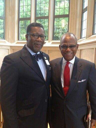 With Dr. Calvin Butts