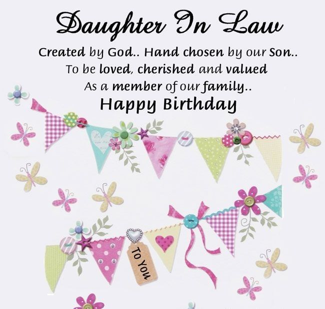 Daughter In Law Created By God Hand Chosen By Son Happy Birthday