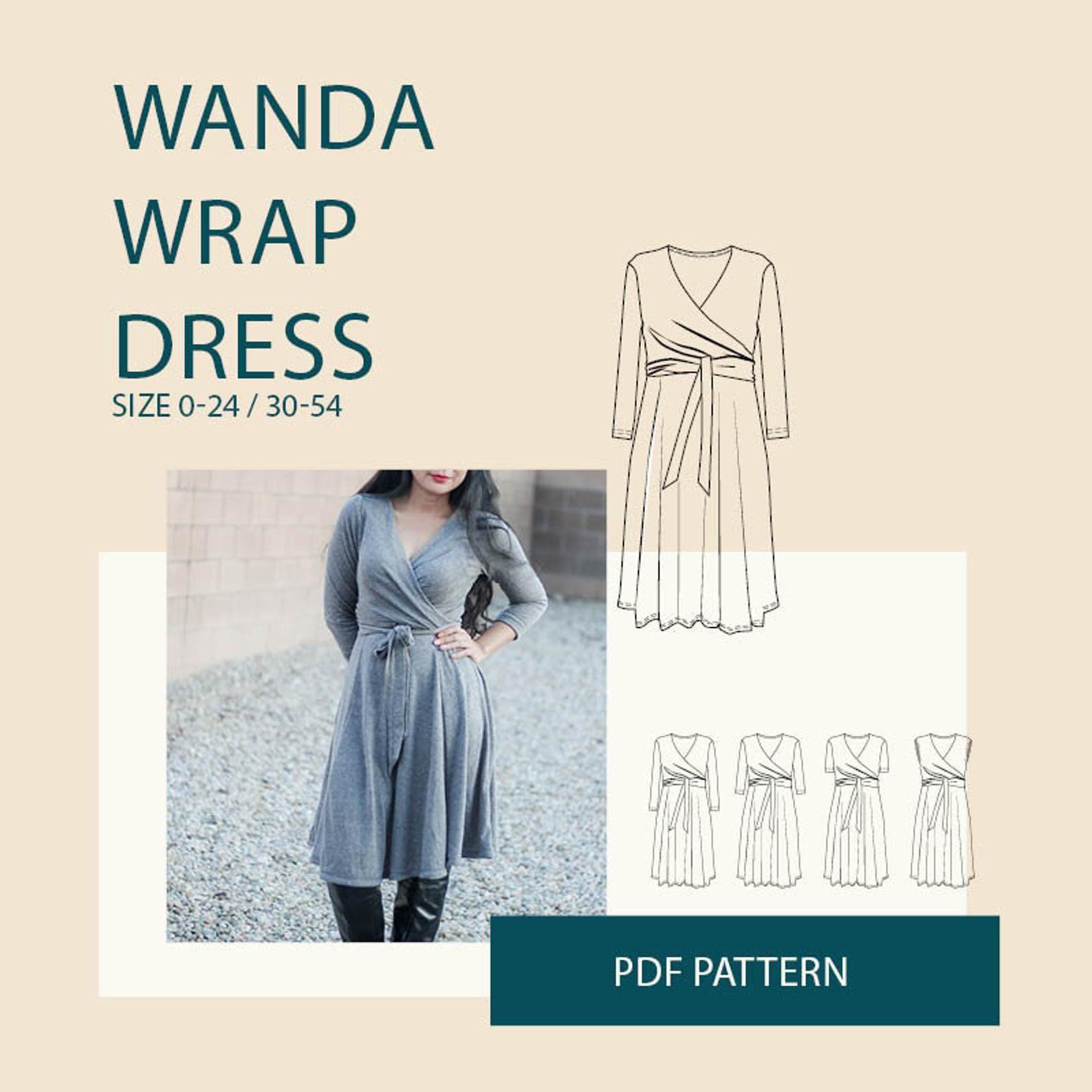 Jersey Wrap Dress Pattern Pdf Spring Fashion Trend Sewing Etsy Wrap Dress Pattern Jersey Wrap Dress Pattern Dress Women [ 1588 x 1588 Pixel ]