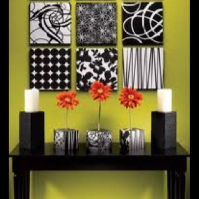 Modern with a burst of color, using scrap book paper. | Home Decor ...