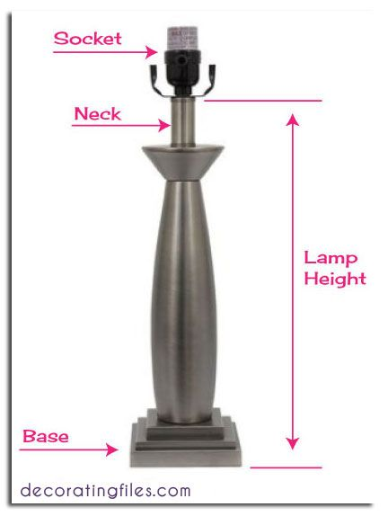 How To Measure Lamp Shade Fascinating How To Size A Lampshade & Other Tips For Table Lamps  Decorating Design Decoration