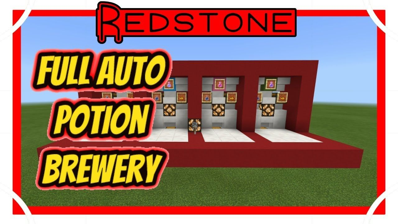 100 Fully Automatic Potion Brewing Station Minecraft Bedrock Edition Minecraft Tutorial Minecraft Blueprints Minecraft