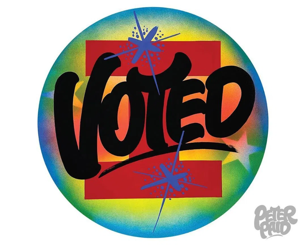 48 Artists Create I Voted Stickers For New York Magazine If It S Hip It S Here Global Design Poster Design Graphic Design