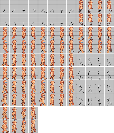 29fa97c545 Human Walking Cycle 8 Frames by oni1ink | Pixel Arts | Pixel art ...