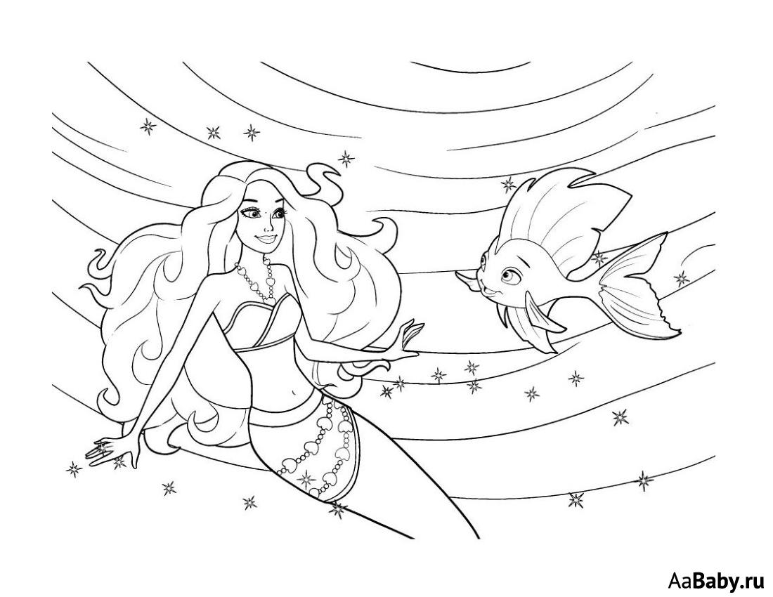 раскраска барби русалка: 17 тыс изображений найдено в ...
